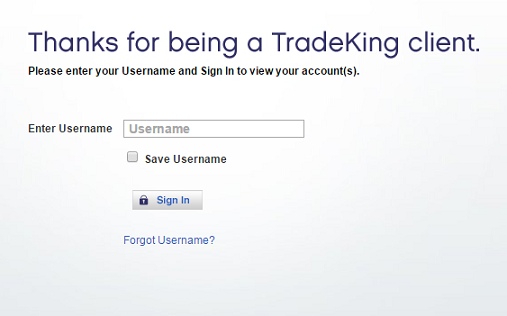 TradeKing Login
