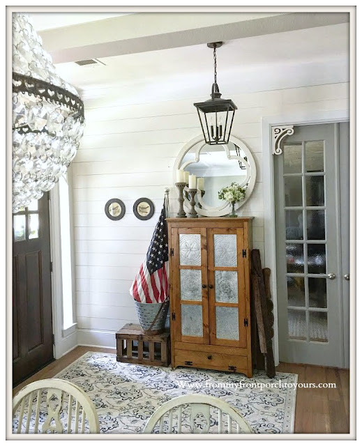 french- country- foyer-farmhouse-cottage-shiplap-pie safe-vintage- from my front porch to yours