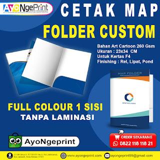 Cetak Map Dinas Custom Full Color di Cibarusah, Bekasi
