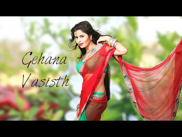 gehana-vasisth-in-sari-red