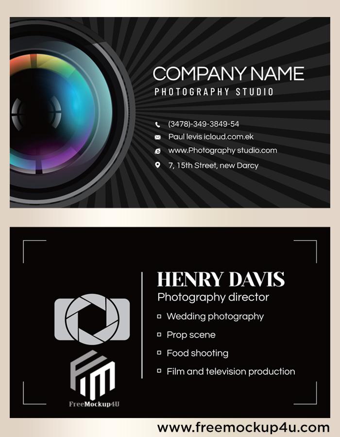 Color Lens Photography Studio Business Card Templates EPS