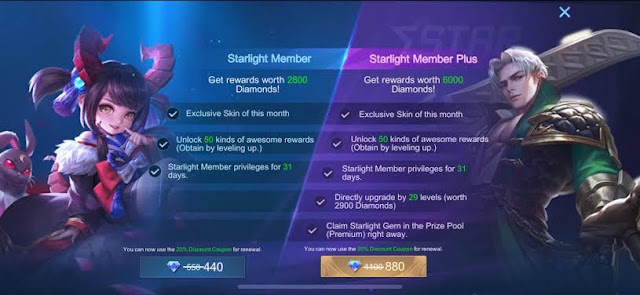 Tips dan Cara Mudah Beli Starlight Member Mobile Legends
