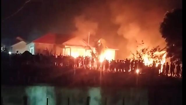 Polsek Candipuro Dibakar Massa, Polda Lampung Bantah Tuduhan Polisi Tidak Bekerja