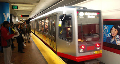 San Francisco Subway Car in Station