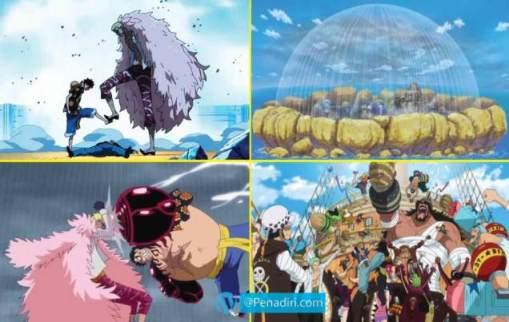 Moment Paling Memorable di Anime One Piece - Pertempuran besar di Dressrosa