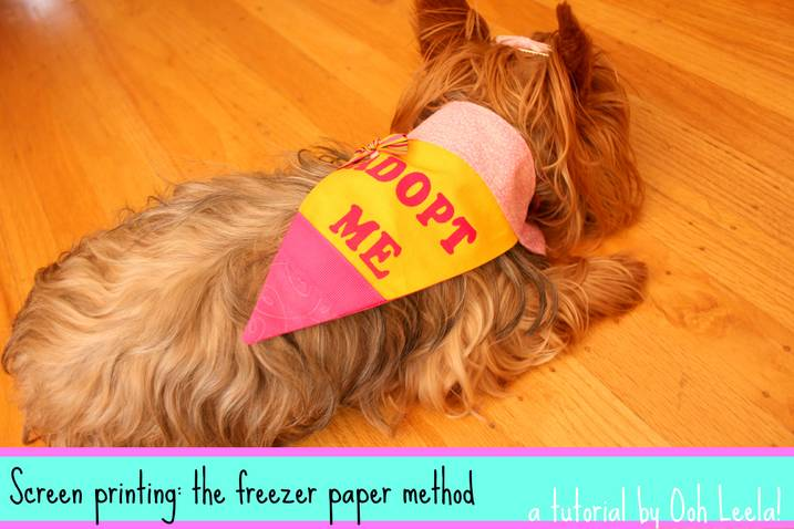 Sew DoggyStyle: Screen Printing with Freezer Paper Stencils