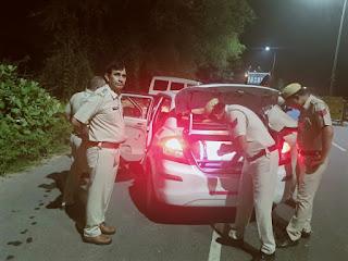 नाईट डोमिनेशन में जिले की पुलिस ने कुल 3652 वाहनों को किया चेक