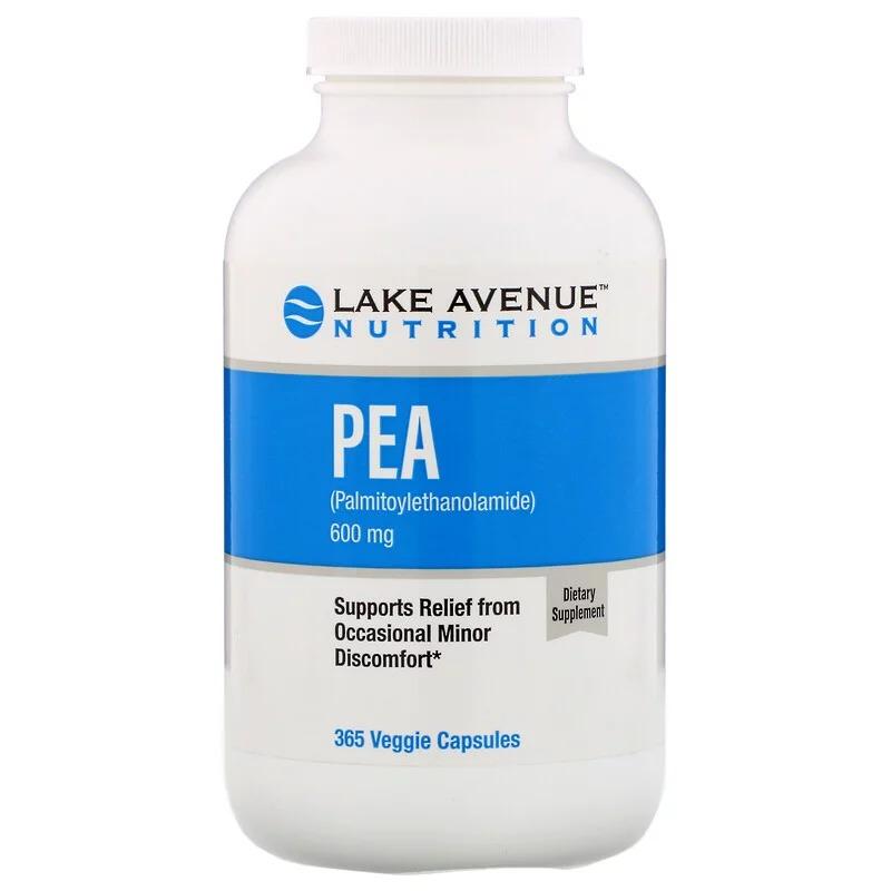 Lake Avenue Nutrition, PEA (Palmitoylethanolamide), 600 mg, 365 Veggie Capsules