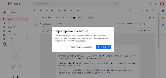 Report Abuse - Gmail Tricks