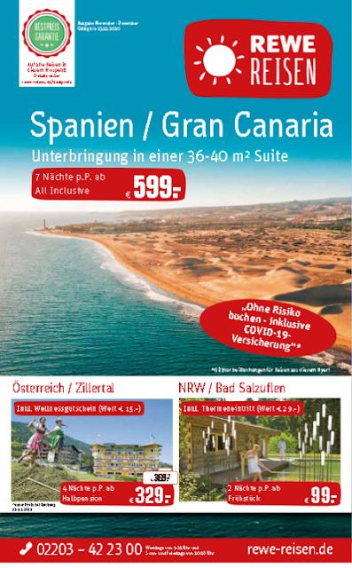 Topangebote:Spanien - Gran Canaria, Österreich - Zillertal, NRW - Bad Salzuflen und viele weitere attraktive Angebote