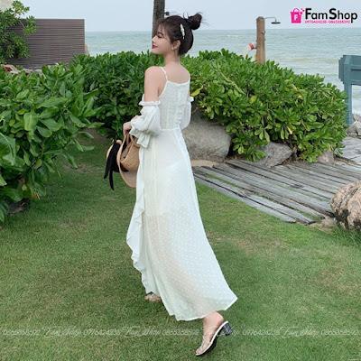 Váy maxi đi biển V582