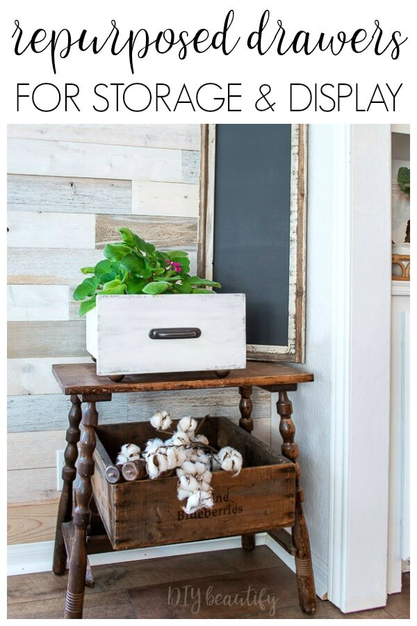 repurposed drawers - from trash to stylish decor