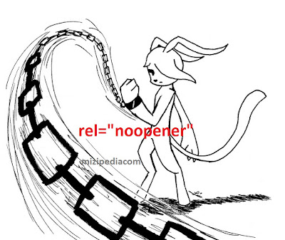 Cara Menambahkan Link External Dengan Rel Noopener