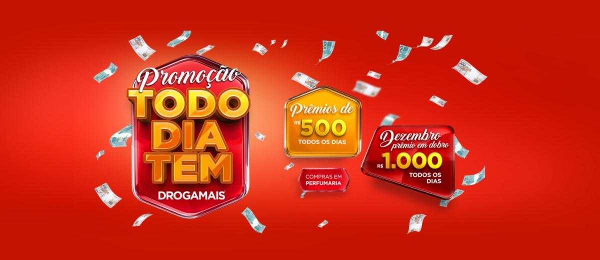 Promoção Drogamais 2021 Todo Dia Tem Prêmios 500 Reais