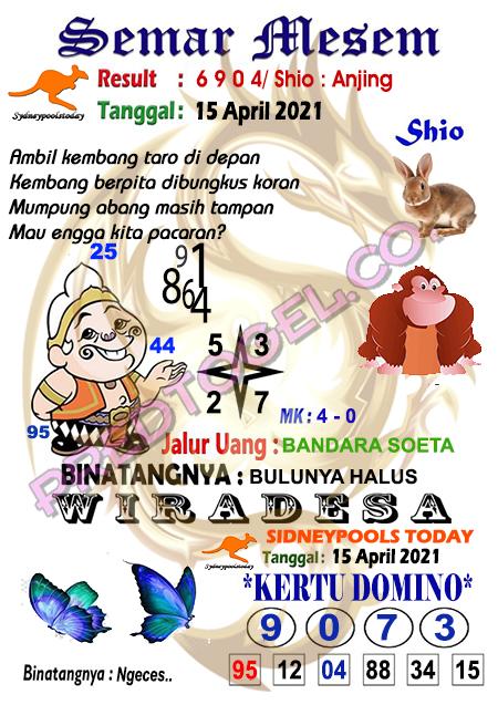 Syair Semar Mesem Sdy Kamis 15 April 2021