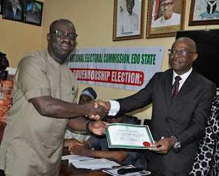 Obaseki gets certificate of return