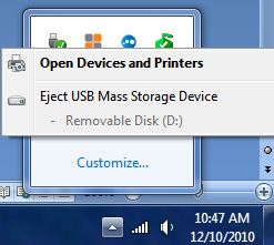 eject USB mass storage device