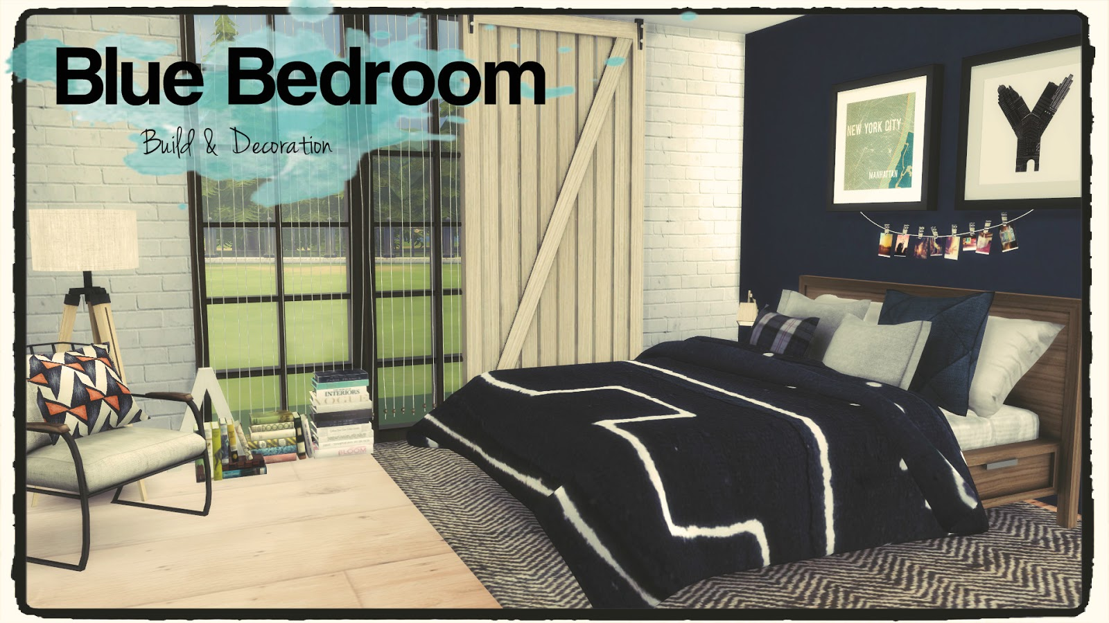Sims 4 Blue Bedroom Dinha