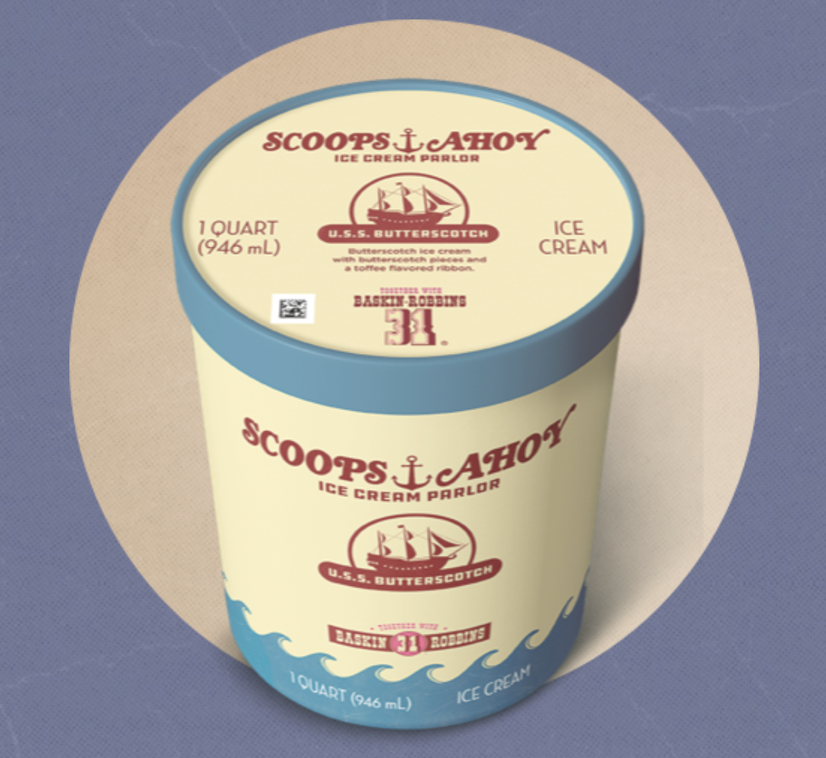 Classic Collection Scoops Ahoy USS Butterscotch 9oz Soy Candle Stranger Things