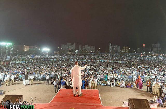 Massive crowd at Asaduddin Owaisi rally wallpaper