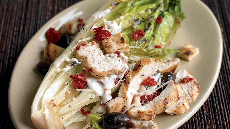 Healthier Grilled Caesar Salad Recipe