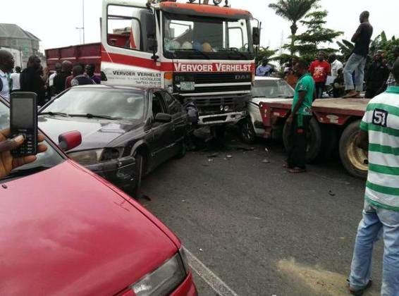 See Photos Of Multiple accident in Port Harcourt Today