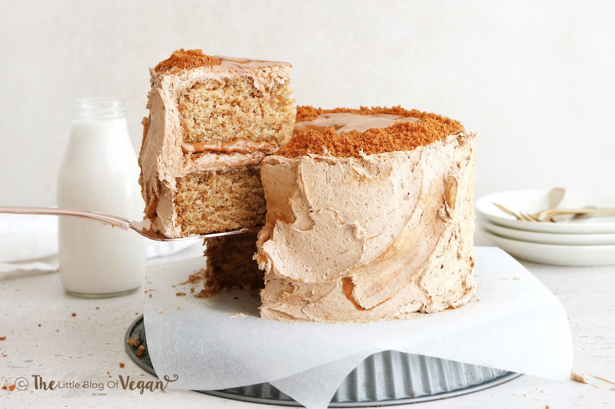 Small Batch Vegan Biscoff Cake