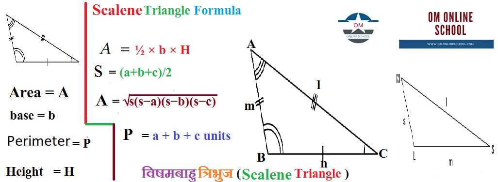 Scalene Triangle विषमबाहु त्रिभुज