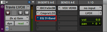 Bypassed Pro Tools Plugin