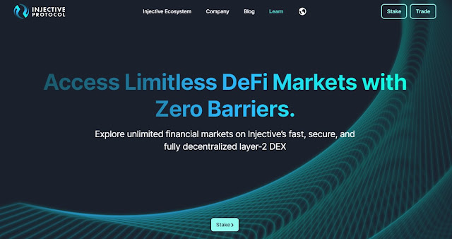 Screenshot Website Injective Protocol (INJ) Cryptocurrency