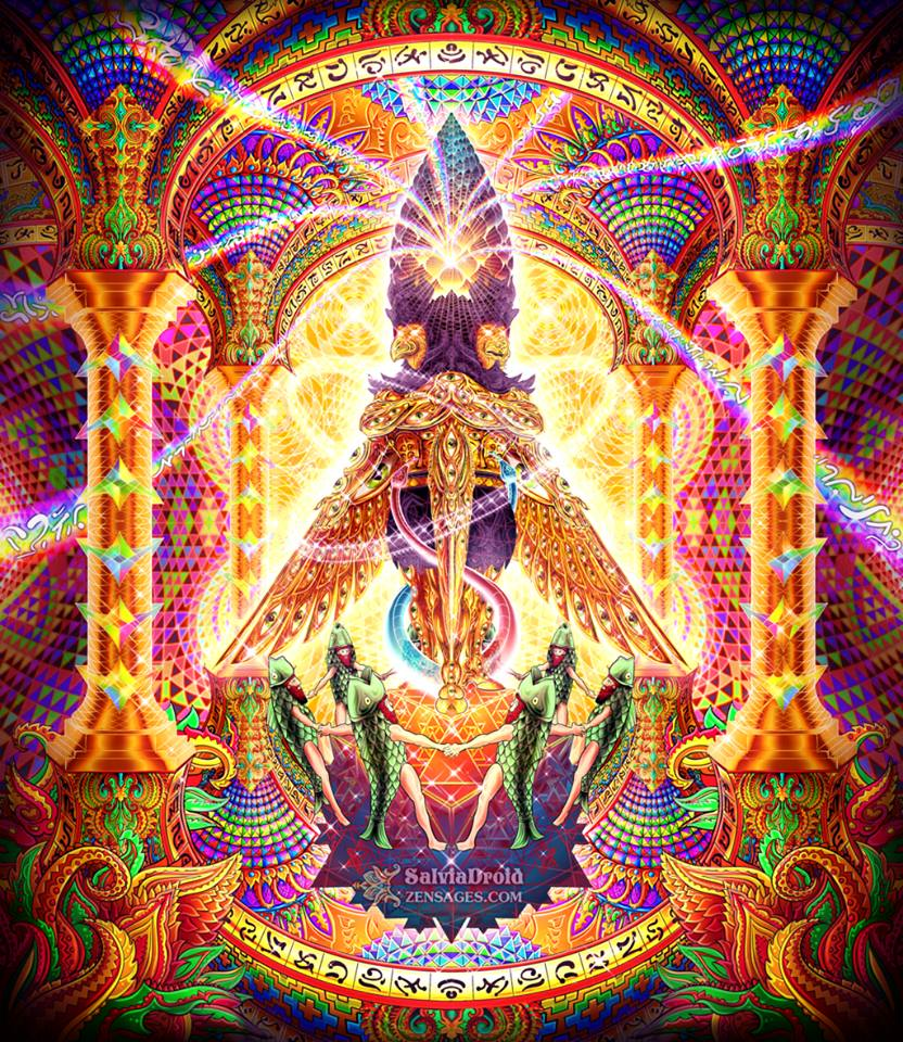 Psychedelic Wallpaper Android: DMT-Inspired Art By SalviaDroid