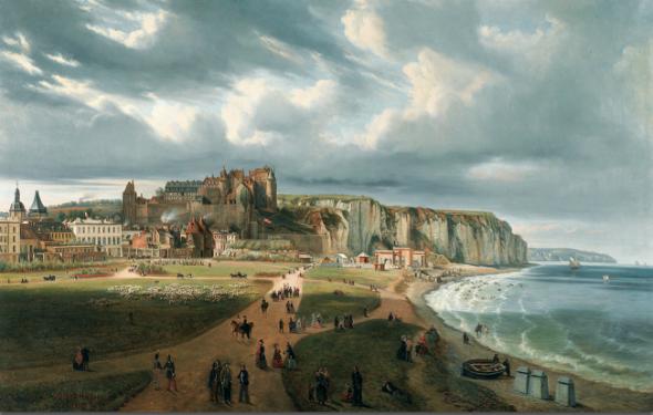 Первое во Франции купальное заведение было открыто в Дьеппе в 1822 году графом де Бранкасом