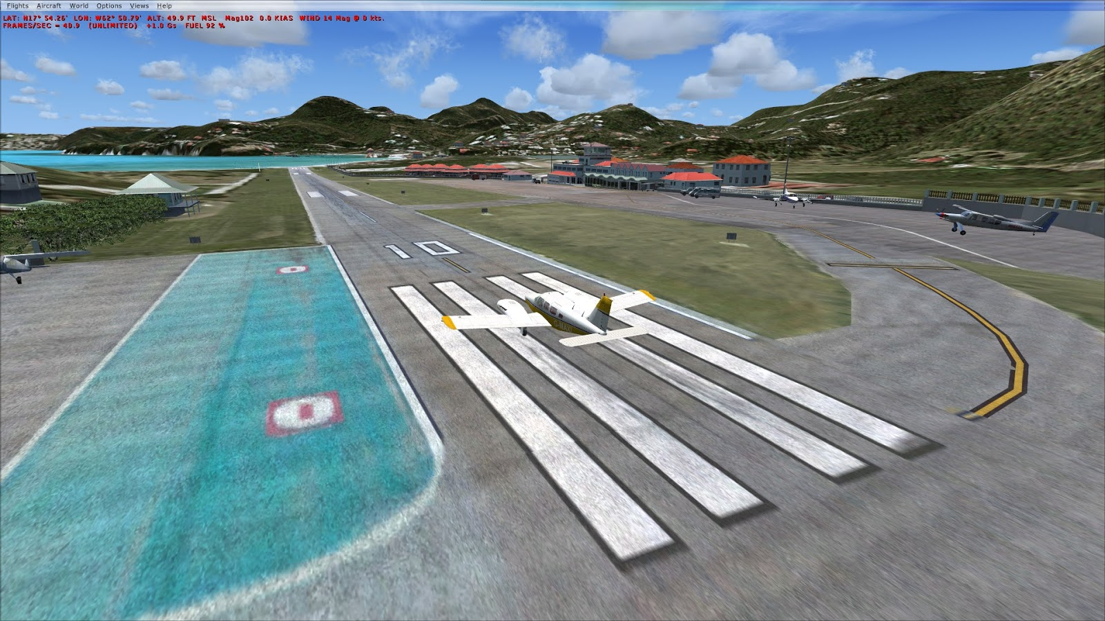 MS Flight Simulator X: Guadeloupe, St  Bart TFFJ, Free Scenery