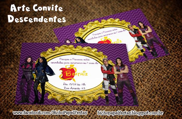 convite descendentes descendants
