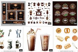 Template PowerPoint, Icon, Label, Menu, Logo, dan Business Plan Tema KOPI