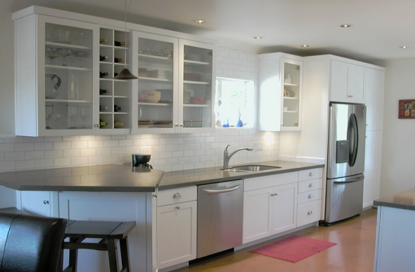 Modern laminate countertops for white cabinets