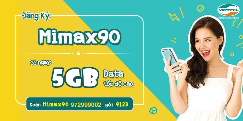 Gói cước 3G/4G MIMAX90 Viettel