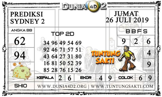 """Prediksi Togel """"SYDNEY 2"""" DUNIA4D2 26 JULI 2019"""
