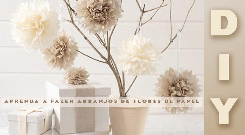 decoração flores de papel