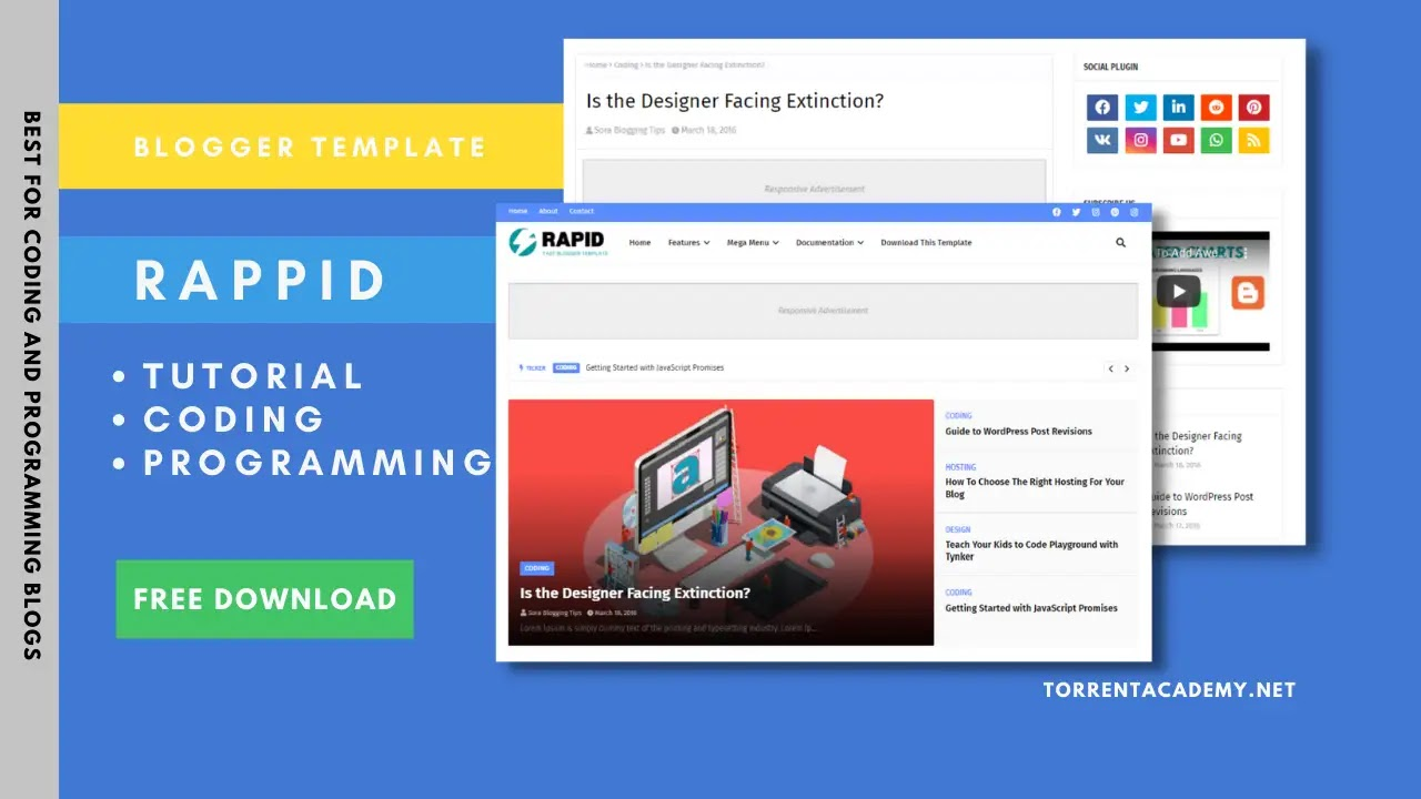 Rappid Blogger Template download