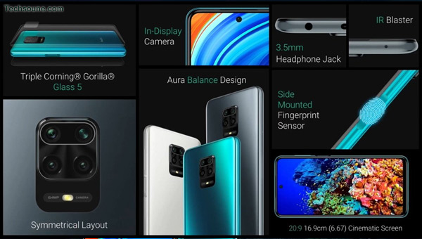 Redmi Note 9 Pro Max تصميم