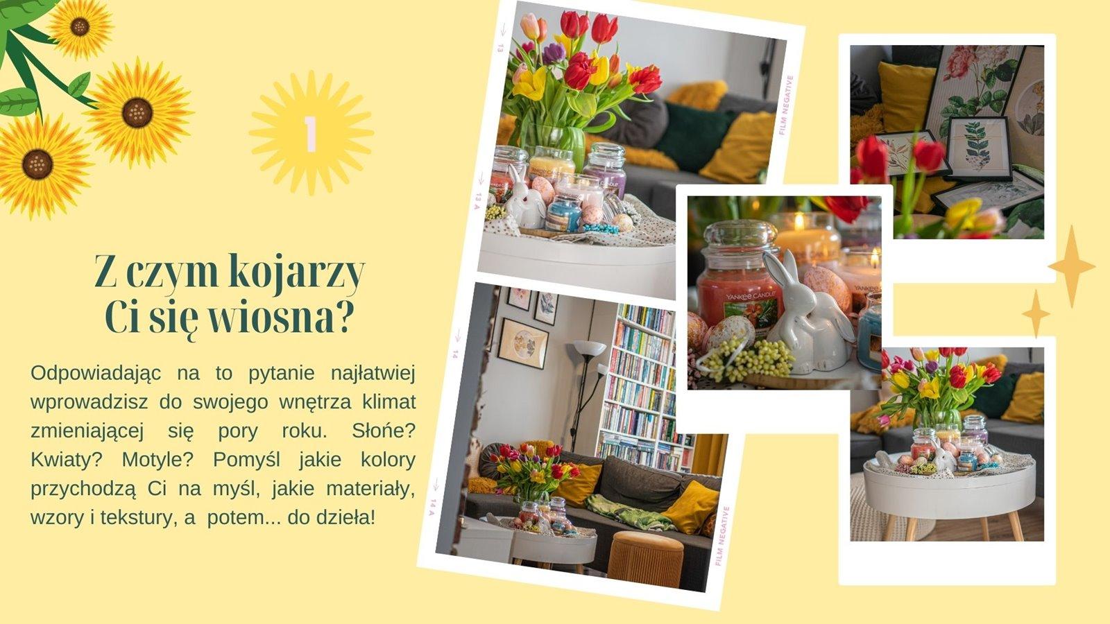 2 jak udekorować na wiosnę dom wystrój wnętrza porady i  inspiracje na wiosenne kwiatowe dekoracje do mieszkania i domu dla dziewczynki jak zaprojektować galerie plakatow na sciane