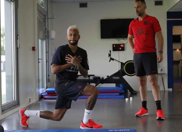 Differentiated training and key meeting: this was the return of Neymar to PSG
