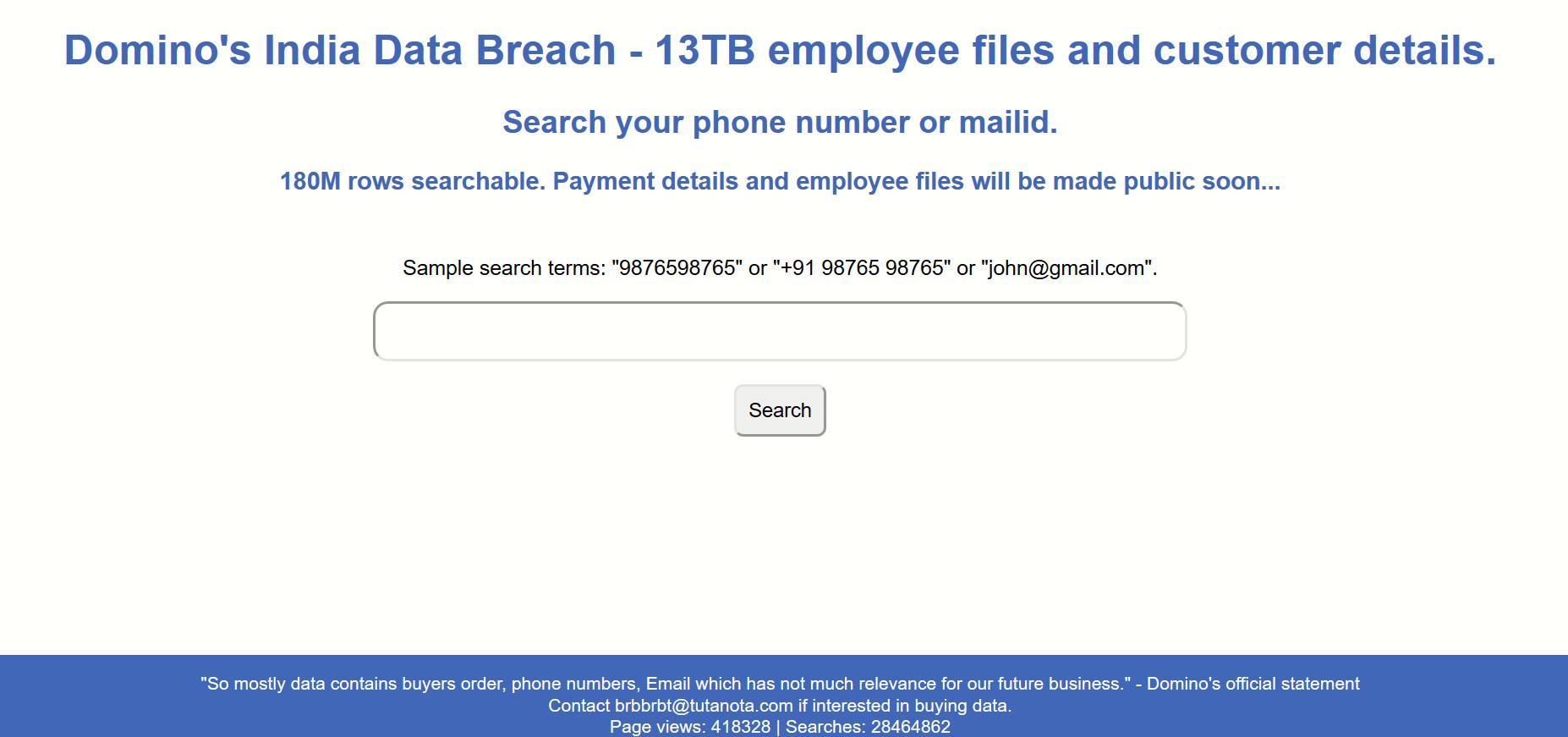 Domino Data Search Engine