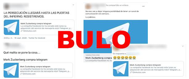Telegram, no ha sido, ni planea ser comprado por Facebook
