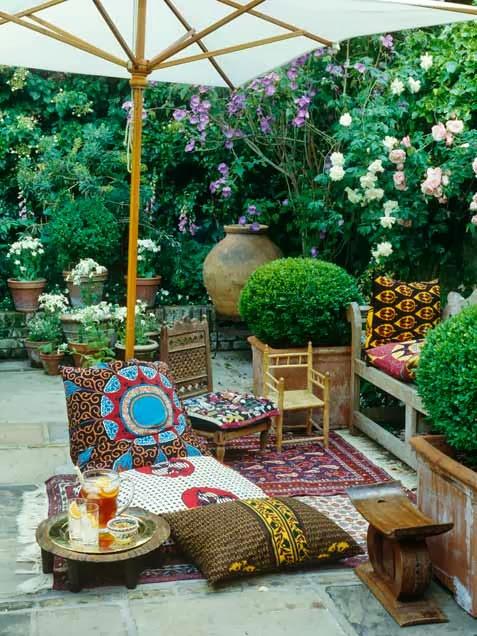 My 10 Favorite Bohemian Patio Ideas. | The House of Boho on My Patio Design id=35375