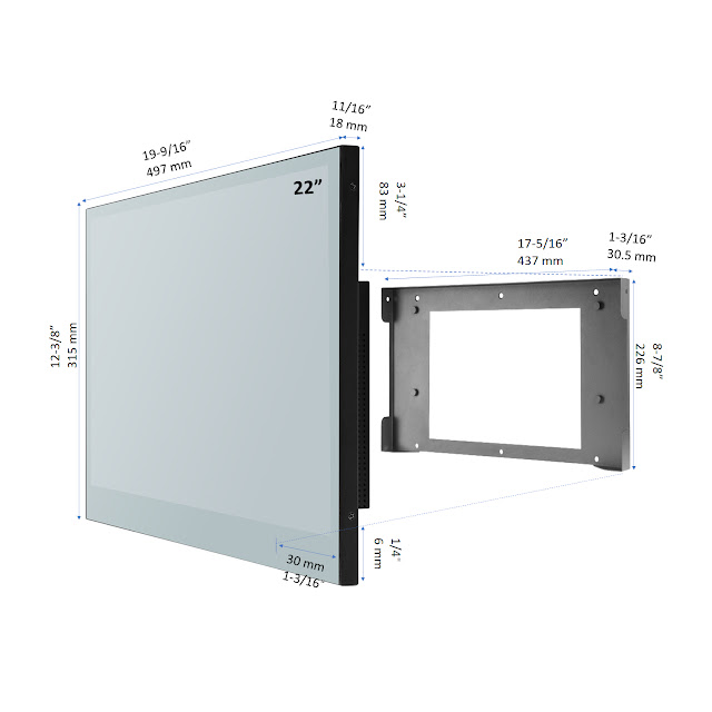 inches Smart Mirror for Bathroom Touch Screen LED TV Android WiFi Bluetooth ATSC DVB Hotel Television