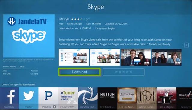 cara install aplikasi di smart tv samsung