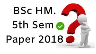 Mdu BSc (Home Science) 5th Sem Question Papers 2018