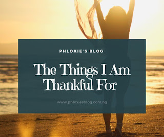 Graphic: Things I am thankful for